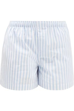 WARDROBE.NYC Women Swimwear - Release 07 Striped Cotton-poplin Shorts - Womens