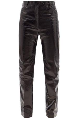Maximilian Soul Slim-leg Leather Trousers - Mens