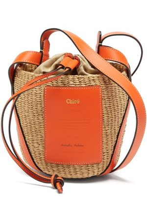Chloé Small Paper And Leather Basket Bag - Womens