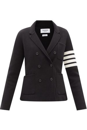 Thom Browne Women Jackets - Four Bar Double-faced Wool Tailored Jacket - Womens