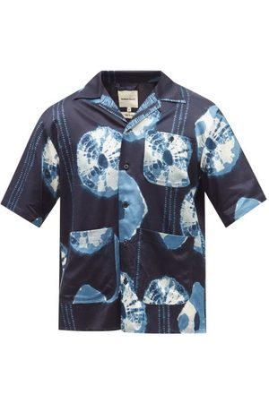 Nicholas Daley Short-sleeved Shibori-dyed Twill Shirt - Mens