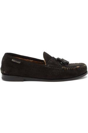 Tom Ford Men Loafers - Tasselled Suede Loafers - Mens