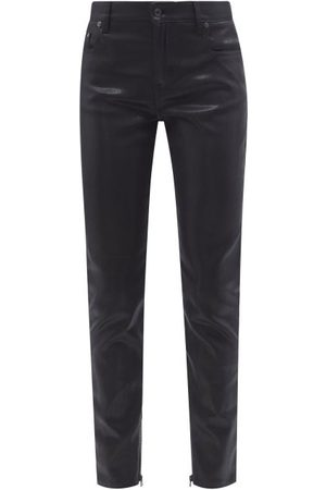 Tom Ford Lacquered High-rise Skinny-leg Jeans - Womens