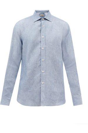 120% Lino Long-sleeved Linen Shirt - Mens