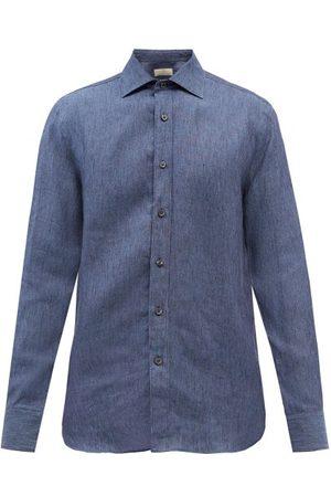 120% Lino Linen Shirt - Mens - Navy