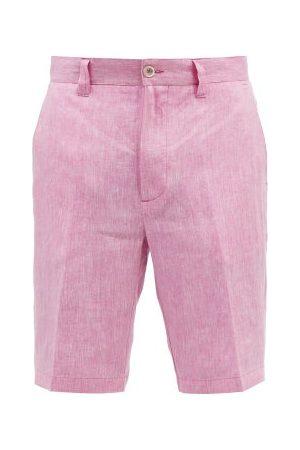 120% Lino Straight-leg Linen Shorts - Mens
