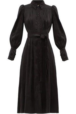 AJE Idealist Linen-blend Voile Shirt Dress - Womens