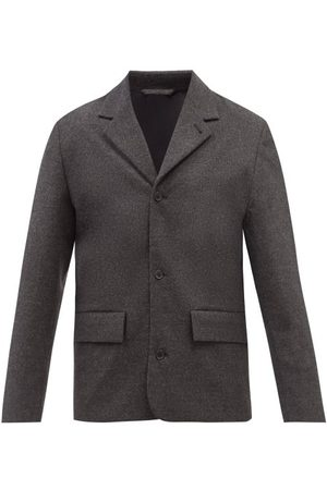 Another Aspect Single-breasted Wool Mélange Blazer - Mens - Dark Grey