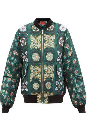 La DoubleJ Suzany-print Faille Bomber Jacket - Womens - Multi