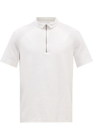 Jacques Men Polo Shirts - Zipped Jersey Polo Shirt - Mens