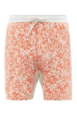 Lululemon Men Shorts - Sweat Solve Printed Drawstring-waist Shorts - Mens