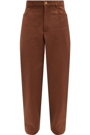 Jacquemus Picchu Cotton-twill Trousers - Mens