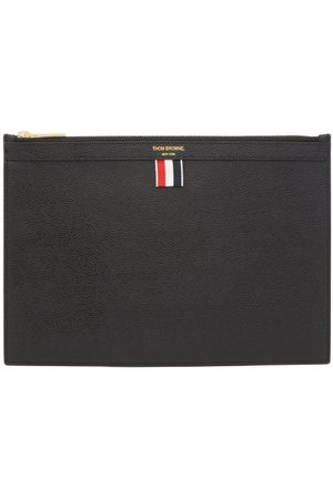 Thom Browne Pebbled-leather Pouch - Mens