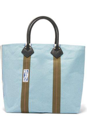 Haulier Men Luggage - Utility Medium Striped Canvas Tote Bag - Mens - Light