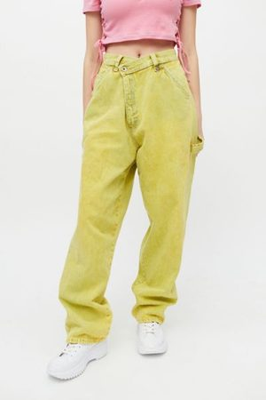 Urban Women Jeans - Recycled Overdyed Acid Wash Crossover Jean