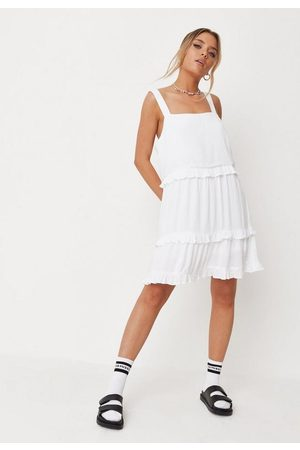 Missguided Crinkle Tiered Mini Dress