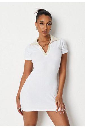 Missguided Jordan Lipscombe X Rib Polo Neck Mini Dress