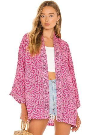 Natalie Martin Saylor Kimono in Pink.