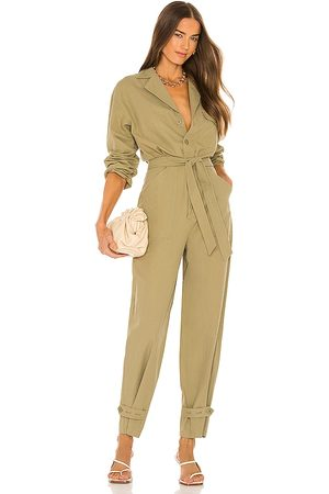 Song of Style Cora Jumpsuit in Army.