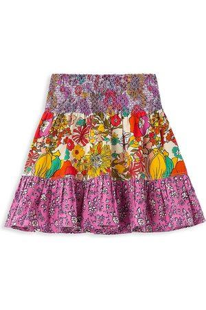 Peek & Beau Little Girl's & Girl's Floral-Print Smocked Skirt