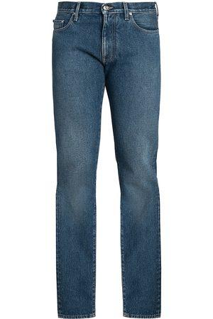 Off-White Slim-Fit Diagonal Stripe Jeans