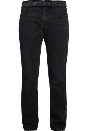 Off-White Faded D-Ring Belted Skinny Jeans