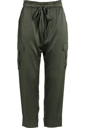 CAMI Carmen Silk Charmeuse Cargo Pants