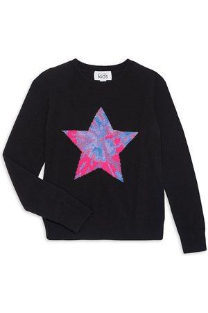 Autumn Cashmere Little Girl's & Girl's Tie-Dye Star Sweater