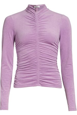 A.L.C. Ansel Ruched Long Sleeve Top