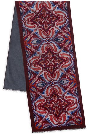 Kiton Patterned Silk Scarf