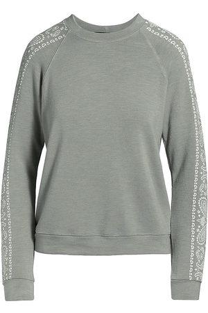 Monrow Bandana Raglan Sweatshirt
