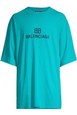Balenciaga Logo Monogram Boxy Cotton T-Shirt