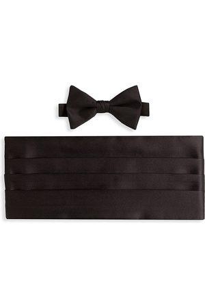 David Donahue Silk Pre-Tied Bow Tie & Cummerbund Set