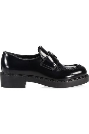 Prada Women Loafers - Logo Leather Loafers