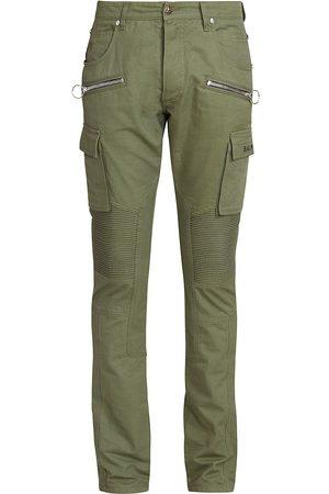 Balmain Ribbed Slim-Fit Cargo Pants