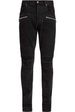 Balmain Ribbed Slim High-Rise Jeans