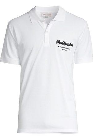 Alexander McQueen Embroidered Graffiti Polo