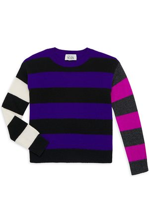 Autumn Cashmere Girl's Rugby Colorblock Sweater
