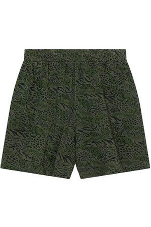 Kenzo Animal Print Cotton Shorts