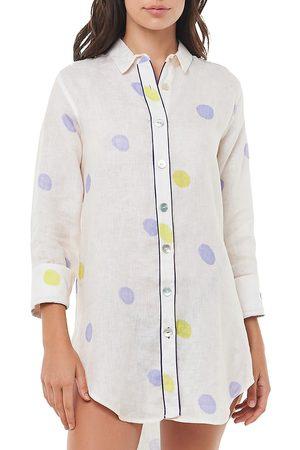 The Lazy Poet Sissy Polka Dot Linen Sleepshirt