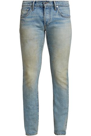 R H U D E Dirt Effect Slim Fit Jeans