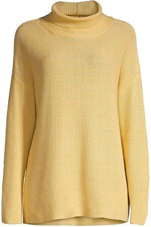 Eileen Fisher Waffle-Knit Long-Sleeve Turtleneck Tunic