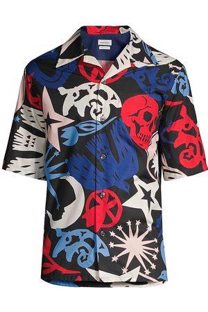 Alexander McQueen Skull Print Hawaiian Shirt