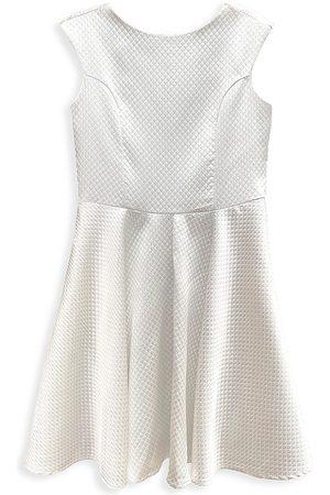 Un Deux Trois Girls Dresses - Girl's Quilted Jacquard Dress