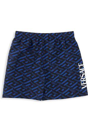 VERSACE Boys Swim Shorts - Little Boy's & Boy's La Greca Logo Swim Shorts