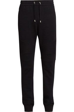 Balmain Ribbed Cotton Sweatpants