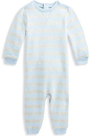 Ralph Lauren Baby Boy's Striped Fleece Coveralls