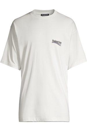 Balenciaga Men T-shirts - Oversize Campaign Logo Cotton T-Shirt