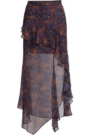 VERONICA BEARD Trixie Asymmetric Silk Skirt
