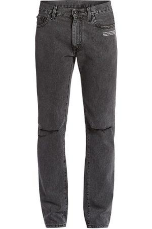 Off-White Rip & Repair Distressed Slim-Fit Jeans